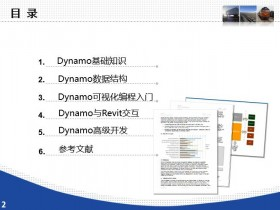Revit高级应用 Dynamo可视化编程教程