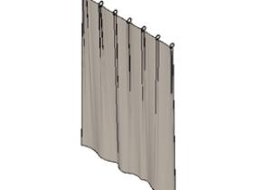 FURN_窗帘杆(单杆带展开窗帘)_002.rfa