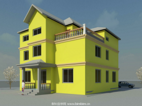 [revit模型]三层Revit别墅模型