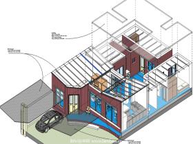 [revit模型]单层别墅设计