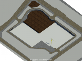 [revit模型]施工场地部署模型
