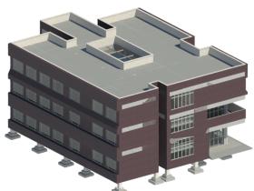 [revit模型]教学楼模型