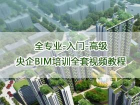 BIM核心教程【全专业入门-高级】央企BIM培训全套视频教程