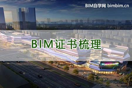 BIM证书种类