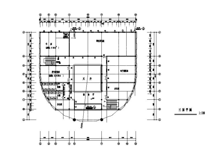 [BIM练习图纸]多层城建图书馆设计方案图