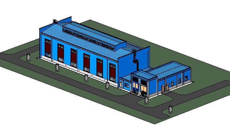 revit模型-空压站项目模型.rvt
