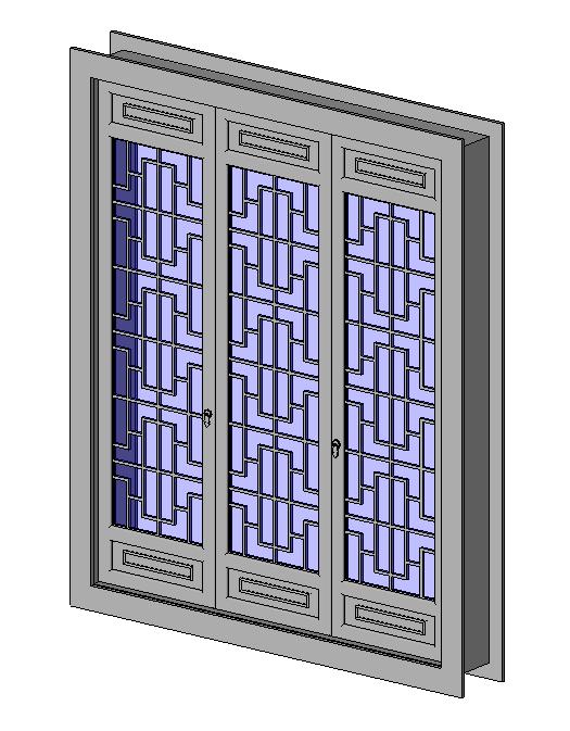 中式窗.rfa
