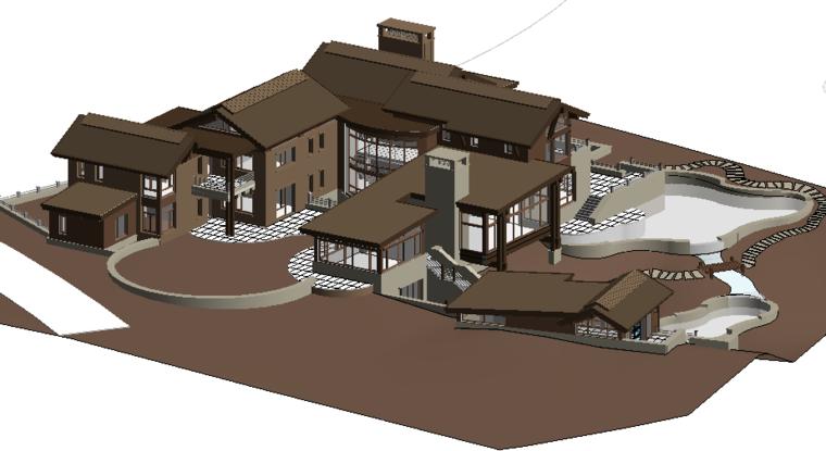 revit模型-群体建筑模型.rvt
