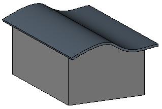 [revit教程]按拉伸创建屋顶