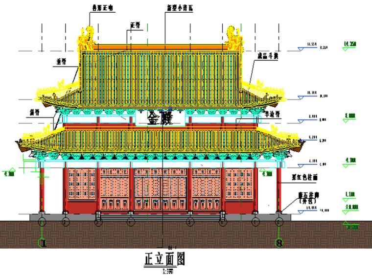 BIM模型-revit模型-金殿古建模型