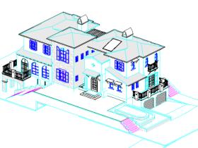 revit模型-别墅模型