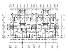 [BIM练习图纸]6层框架结构商住楼全套施工图(建筑、结构、暖通、电气)