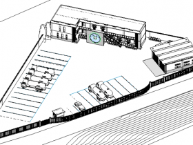 revit模型-加油站服务区模型