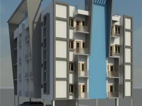revit模型-四层公寓模型.rvt