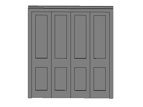 折叠门-4块嵌板.rfa