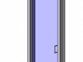单扇地弹玻璃门2-带亮窗.rfa