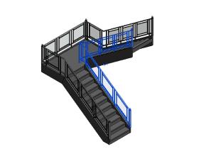 Revit族库-建筑-场地建模族-栏杆(rfa,共123个)- BIM免费族库下载