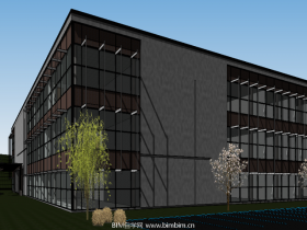 [revit模型]三层Revit商务办公楼模型