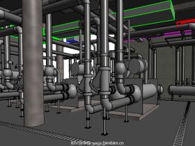 [revit模型]制冷机房模型