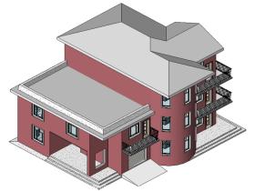 [revit模型]三层小别墅模型