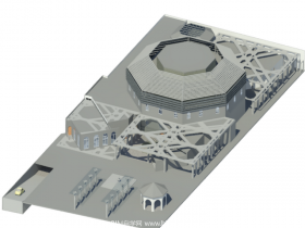 [revit模型]体育馆模型